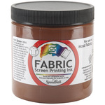 Fabric Screen Printing Ink 8oz - Brown