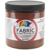 Fabric Screen Printing Ink 8oz - Brown