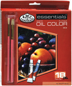 Assorted Colors - Essentials Oil Paint 12ml 18/Pkg