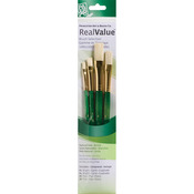 Bright 2,4, Flat 6,8 - Real Value Brush Set Natural Bristle