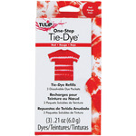 Red - Tulip One-Step Tie-Dye Refill .13oz 3/Pkg