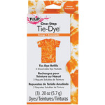Orange - Tulip One-Step Tie-Dye Refill .13oz 3/Pkg