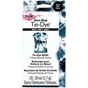 Black - Tulip One-Step Tie-Dye Refill .13oz 3/Pkg