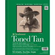 "Tan 80lb 50 Sheets - Strathmore Toned Sketch Book 9""X12"""