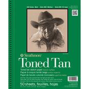"Tan 80lb 50 Sheets - Strathmore Toned Sketch Book 9""X12"""