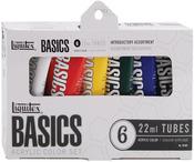 Assorted Colors - Liquitex Basics Acrylic Paint 22ml 6/Pkg