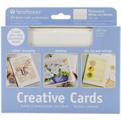 "Fluorescent White/Deckle - Strathmore Cards & Envelopes 5""X7"" 10/Pkg"