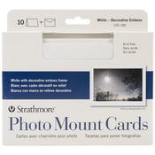 "White Photo Mount - Strathmore Cards & Envelopes 5""X7"" 10/Pkg"