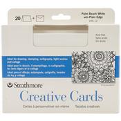 "Palm Beach/Plain Edge - Strathmore Cards & Envelopes 5""X7"" 20/Pkg"