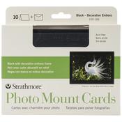 """Black Photo Mount - Strathmore Cards & Envelopes 5""""X7"""" 10/Pkg"""