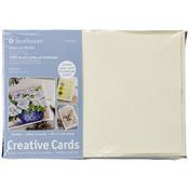 "Ivory/Deckle - Strathmore Cards And Envelopes 5""X7"" 100/Pkg"