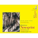 "32lb 50 Sheets - Strathmore Rough Newsprint Paper Pad 18""X24"""