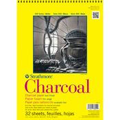 "64lb White 32 Sheets - Strathmore Charcoal Paper Pad 11""X17"""