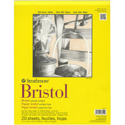 "100lb 20 Sheets - Strathmore Bristol Smooth Paper Pad 11""X14"""