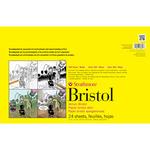 "100lb 24 Sheets - Strathmore Smooth Bristol Paper Pad 11""X17"""