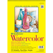 "140lb Cold Press 12 Sheets - Strathmore Watercolor Paper Pad 9""X12"""
