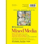 "90lb 40 Sheets - Strathmore Mixed Media Vellum Paper Pad 5.5""X8.5"""