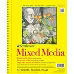 "90lb 40 Sheets - Strathmore Mixed Media Vellum Paper Pad 9""X12"""