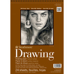 "80lb 24 Sheets - Strathmore Medium Drawing Paper Pad 8""X10"""