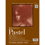 "80lb 24 Sheets - Strathmore Assorted Pastel Paper Pad 9""X12"""