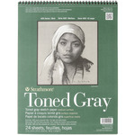 """80lb Gray 24 Sheets - Strathmore Toned Sketch Paper Pad 11""""X14"""""""