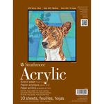 "9""X12"" Acrylic Strathmore Heavyweight Linen Finish Painting Pad"