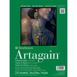 "60lb 24 Sheets - Strathmore Black Artagain Paper Pad 9""X12"""