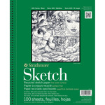 """60lb 100 Sheets - Strathmore Recycled Sketch Paper Pad 5.5""""X8.5"""""""