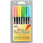 Fluorescent Blue, Red, Green and Yellow - Bistro Chalk Marker Set 4/Pkg