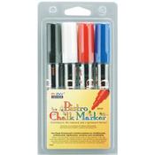 Black/Red/Blue/White - Bistro Chalk Marker Set 4/Pkg
