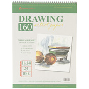 "24 Sheets - Spiral Drawing Pad 11""X14"""