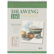 "24 Sheets - Spiral Drawing Pad 8""X10"""