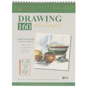 """24 Sheets - Spiral Drawing Pad 8""""X10"""""""