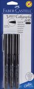 Black - PITT Calligraphy Pens 2mm Chisel Tip 3/Pkg
