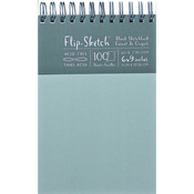"100 Pages-Mist - Flip-Sketch Blank Spiral Sketch Book 6""X9"""