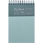 """100 Pages-Mist - Flip-Sketch Blank Spiral Sketch Book 6""""X9"""""""