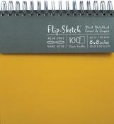 """100 Pages-Butternut - Flip-Sketch Blank Spiral Sketch Book 8'x8"""""""