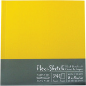 """8""""X8"""" 120 Pages-Butternut - Flexi-Sketch Blank Sketch Book"""