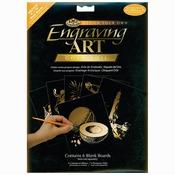"Gold - Foil Engraving Art Blank Boards 8""X10"" 6/Pkg"