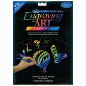 "Rainbow - Foil Engraving Art Blank Boards 8""X10"" 6/Pkg"