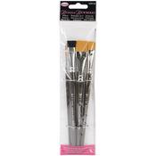 "Liner#2,Flat#12,Scruffy1/2"",Flat3/4"" - Donna Dewberry Acrylic Brush Set 4pc"