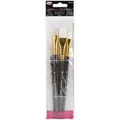 "Liner#2,Flat#12,Scruffy1/2"",Flat3/4"" - Donna Dewberry Glass Brush Set 4pc"
