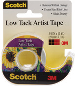 "Scotch Low Tack Artist Tape .75""X10yd"