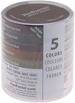 PanPastel Ultra Soft Artist Pastel Set 9ml 5/Pkg - Extra Dark Shades - Earthtone