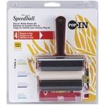 """Foam, Rubber, Hard Rubber & Acrylic - Speedball Pop-In 4"""" Roller Brayer Kit"""
