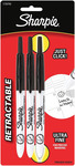Black - Sharpie Ultra Fine Point Retractable Permanent Markers 3/Pkg