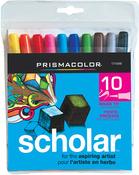 Prismacolor Scholar Brush Marker 10/Pkg