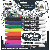 Assorted Colors - Stained By Sharpie Fabric Markers 8/Pkg