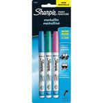 Pink, Blue and Green - Sharpie Metallic Paint Pen Extra-Fine 3/Pkg