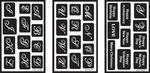 "Alphabet - Over 'N' Over Reusable Glass Etching Stencils 5""X8"" 3/Pkg"